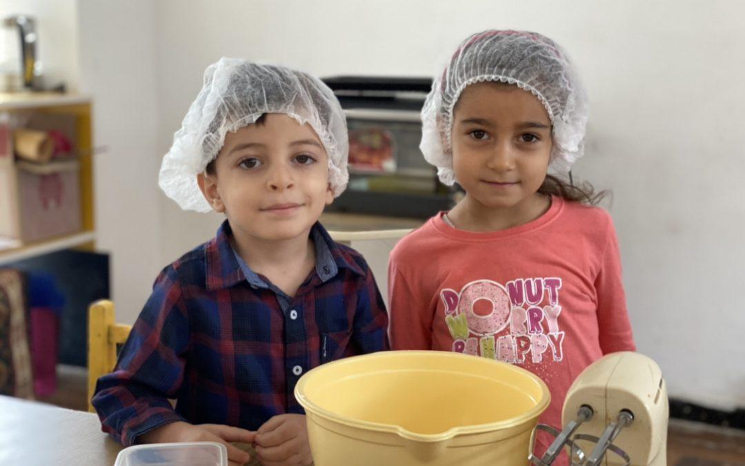 5 տարեկանները խոհանոցում